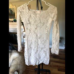 Victoria's Secret white lace chemise sz xs